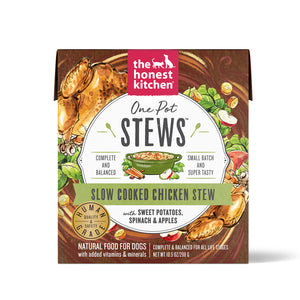 The Honest Kitchen One Pot Stew Slow Cooked Chicken Stew with Sweet Potato, Spinach & Apples Dog Food