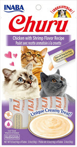 Inaba Churu Chicken Puree with Shrimp Cat Treat