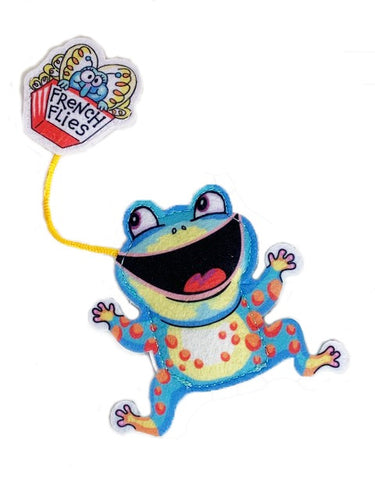 Fuzzu Fast Food Frog and French Flies Cat Toy
