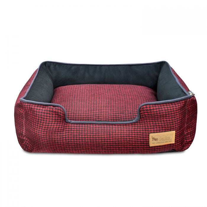 P.L.A.Y. Lounge Bed Houndstooth, Red & Black