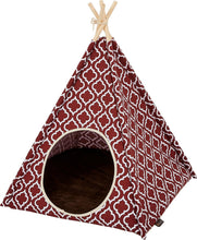 Load image into Gallery viewer, P.L.A.Y. Teepee Tent for Cat or Dog, Moroccan Marsala