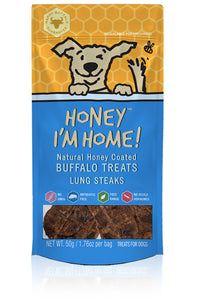Honey I'm Home Natural Honey Coated Lung Bites Buffalo Dog Chews