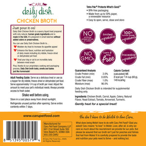 Caru Daily Dish Chicken Broth for Dogs & Cats