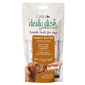 Caru Daily Dish Smoothie Peanut Butter Flavor Lickable Treat for Dogs