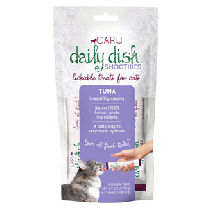 Caru Daily Dish Smoothie Tuna Flavor Lickable Treat for Cats