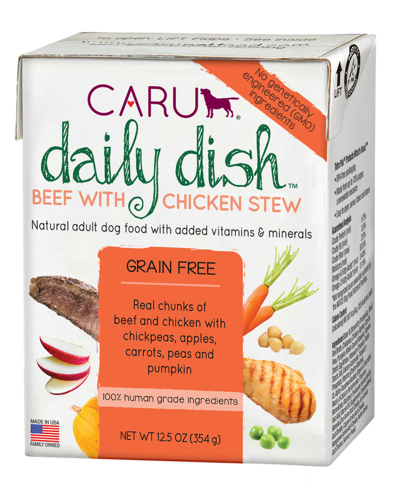 Caru Daily Dish Beef With Chicken Stew For Dogs