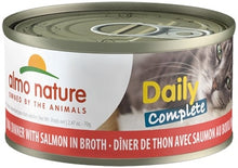Load image into Gallery viewer, Almo Nature Daily Complete Cat Tuna with Salmon in Broth Canned Cat Food