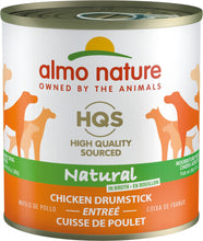 Load image into Gallery viewer, Almo Nature HQS Natural Dog Grain Free Additive Free Chicken Drumstick Canned Dog Food