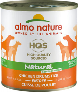 Almo Nature HQS Natural Dog Grain Free Additive Free Chicken Drumstick Canned Dog Food