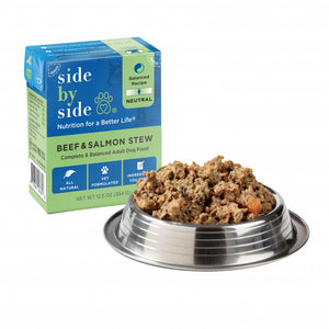 Side By Side Beef & Salmon Stew Neutral Recipe Tetra Pack Wet Dog Food