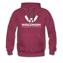 Load image into Gallery viewer, WHS Logo Premium Hoodie - burgundy