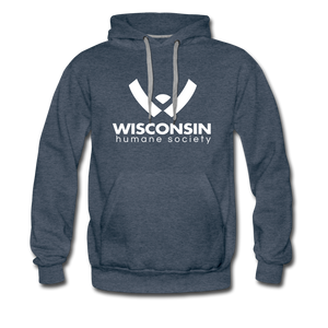 WHS Logo Premium Hoodie - heather denim