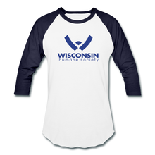 Load image into Gallery viewer, WHS Logo Baseball T-Shirt - white/navy