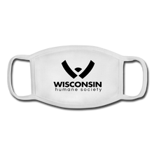 Load image into Gallery viewer, WHS Logo Youth Face Mask - white/white