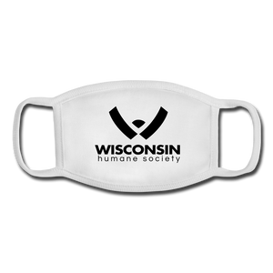WHS Logo Youth Face Mask - white/white