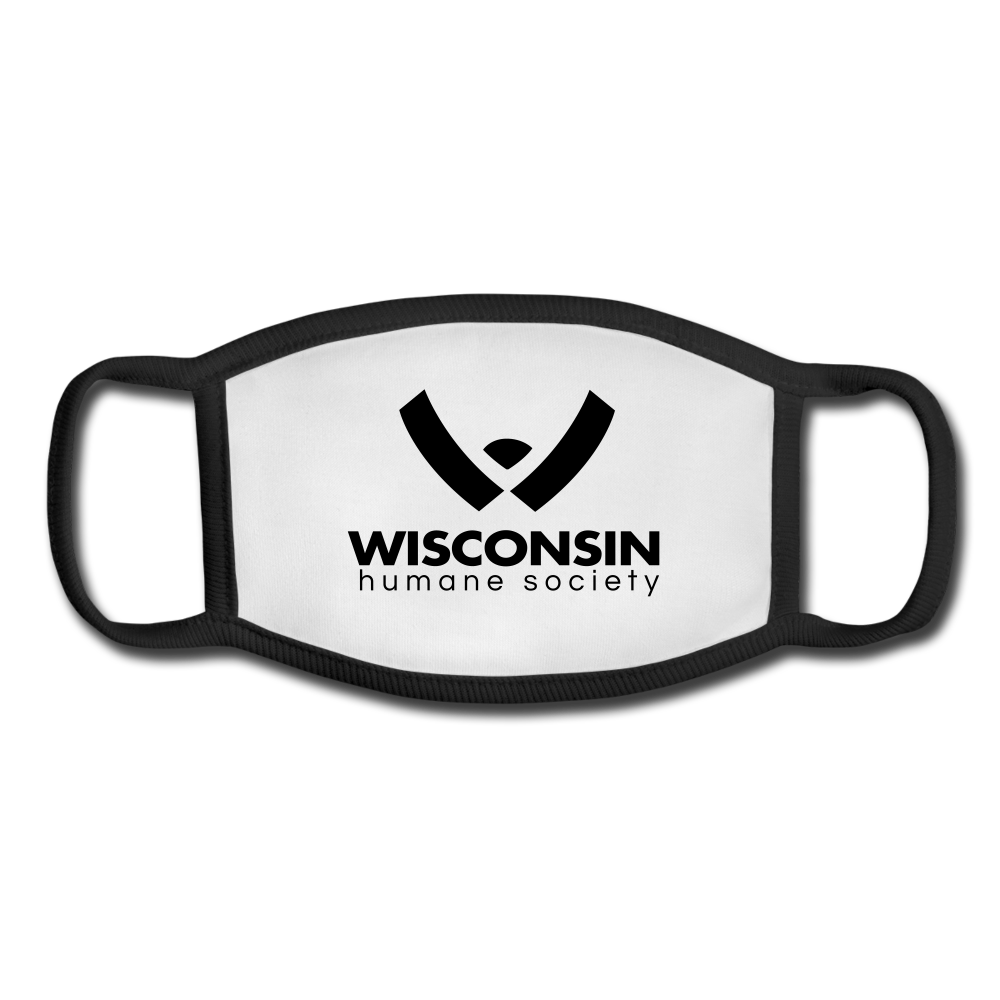 WHS Logo Youth Face Mask - white/black