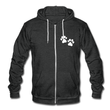 Load image into Gallery viewer, WHS Logo Fleece Zip Hoodie - charcoal gray