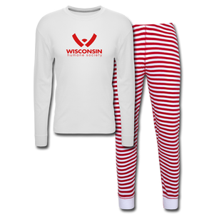 WHS Logo Pajama Set - white/red stripe