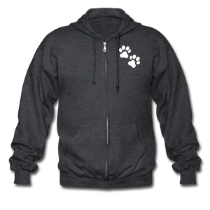 WHS Logo Heavy Blend Adult Zip Hoodie - deep heather
