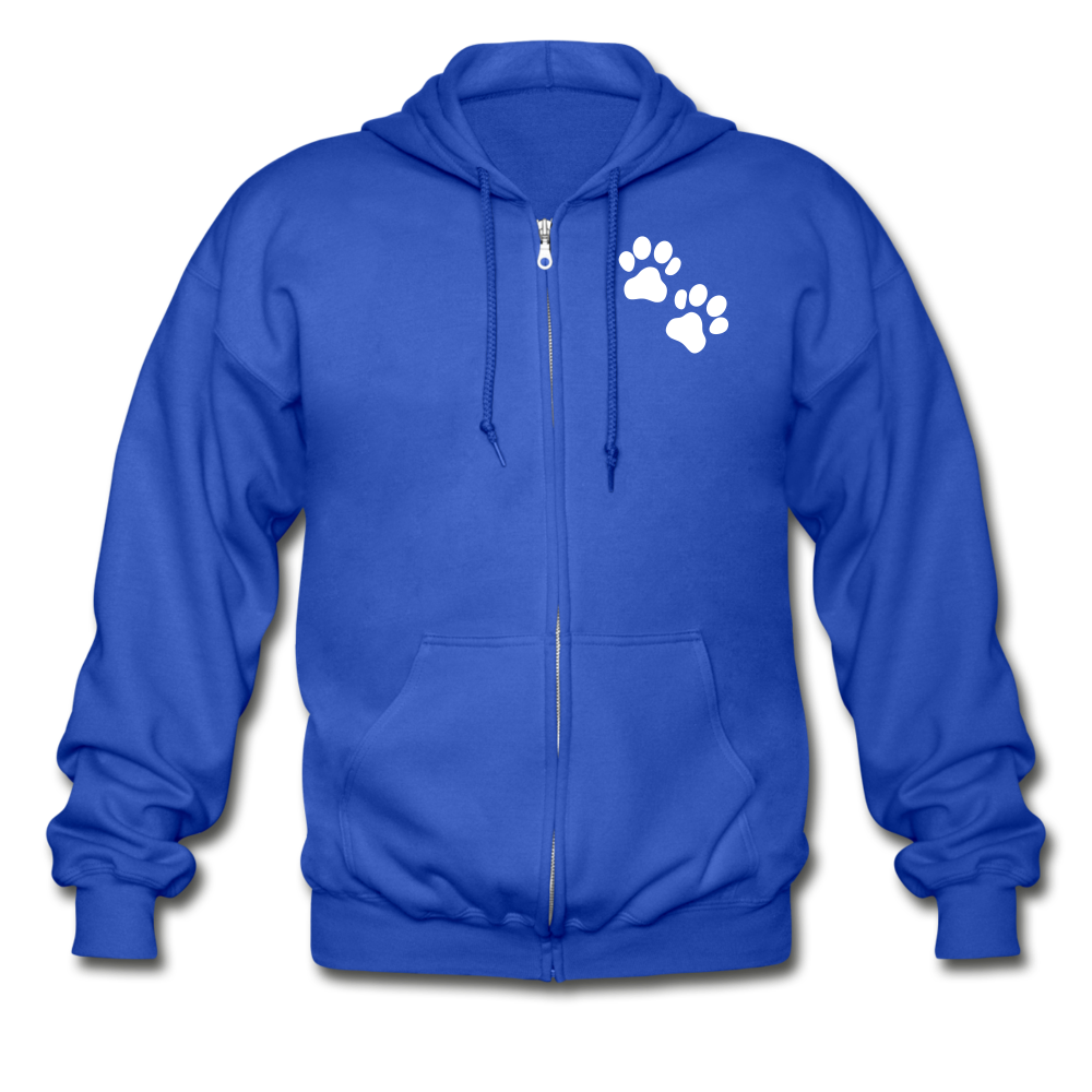 WHS Logo Heavy Blend Adult Zip Hoodie - royal blue