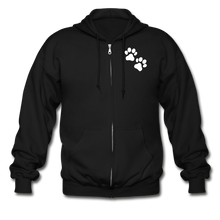 Load image into Gallery viewer, WHS Logo Heavy Blend Adult Zip Hoodie - black