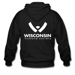 WHS Logo Heavy Blend Adult Zip Hoodie - black