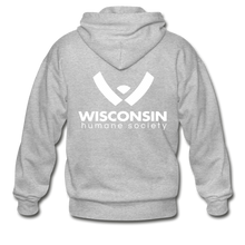 Load image into Gallery viewer, WHS Logo Heavy Blend Adult Zip Hoodie - heather gray