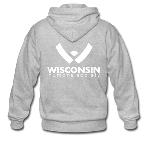 WHS Logo Heavy Blend Adult Zip Hoodie - heather gray