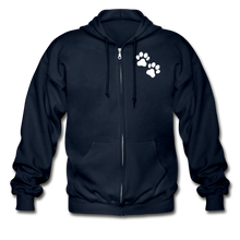Load image into Gallery viewer, WHS Logo Heavy Blend Adult Zip Hoodie - navy