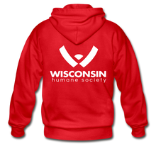 Load image into Gallery viewer, WHS Logo Heavy Blend Adult Zip Hoodie - red