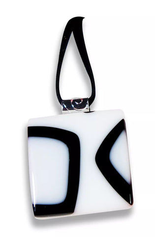 Black and White Square Pendant