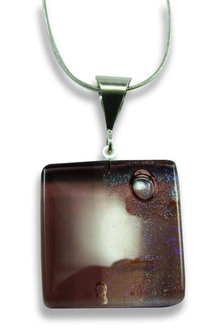 Litmus Brown Square Pendant