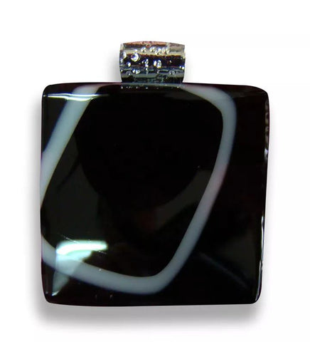Small Black Square Pendant