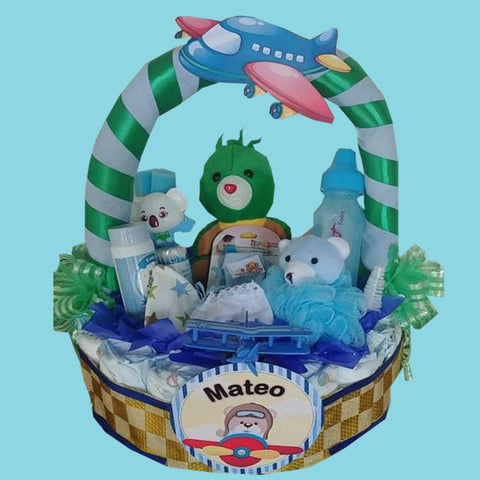 Baby Blue Green Basket