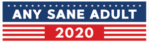 Any Sane Adult 2020 Rectangular Bumper Sticker - Any Sane Adult 2020