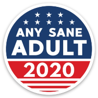 "Load image into Gallery viewer, Any Sane Adult 2020 2"" Static Cling - Decal (Pack of 5) - Any Sane Adult 2020"