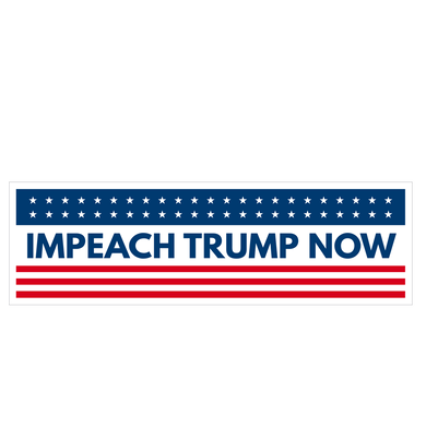 Impeach Trump Now Bumper Sticker - Any Sane Adult 2020