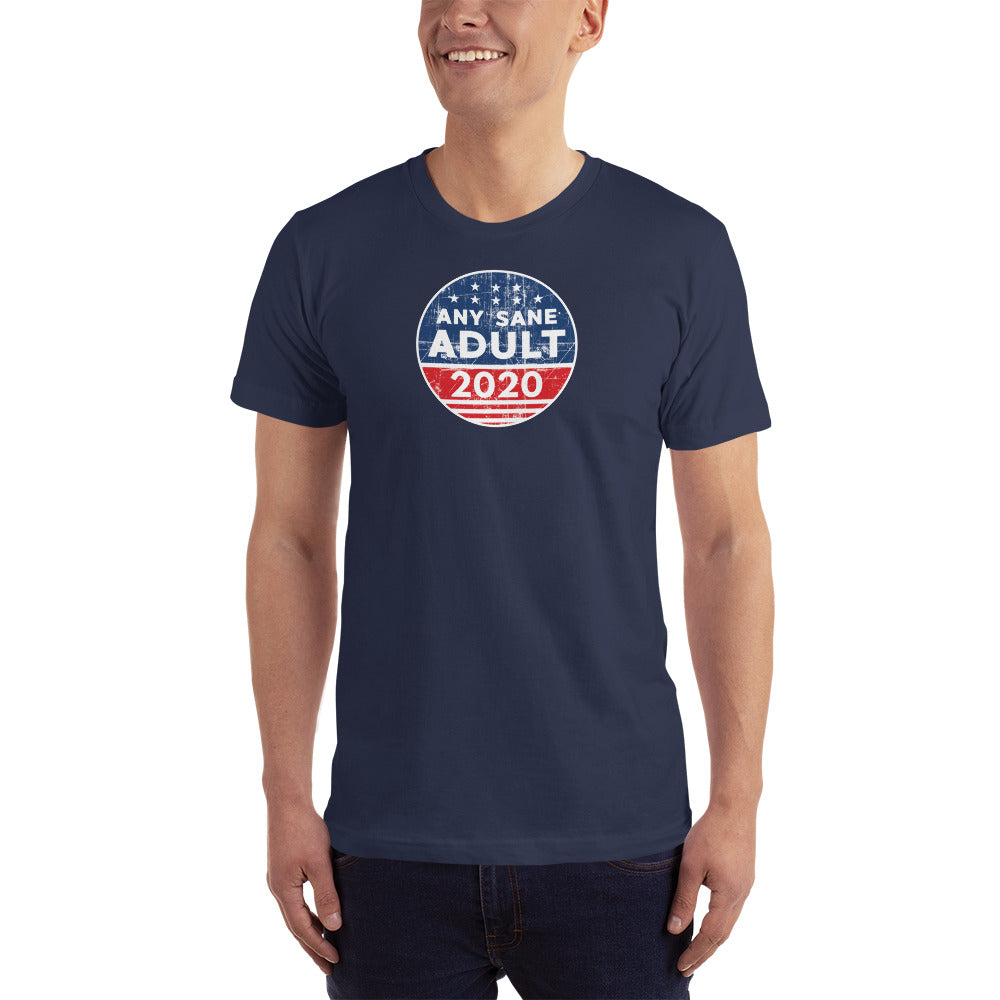 Men's Any Sane Adult 2020 Vintage Logo T-Shirt - Made in the USA - Any Sane Adult 2020