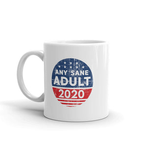 Any Sane Adult 2020 Distressed Logo Mug - Any Sane Adult 2020