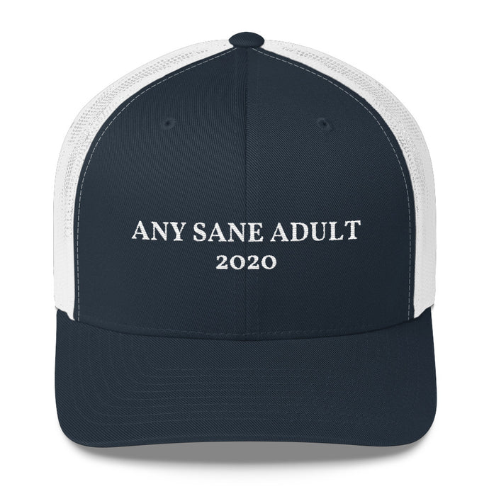 Any Sane Adult 2020 Trucker Hat - Any Sane Adult 2020