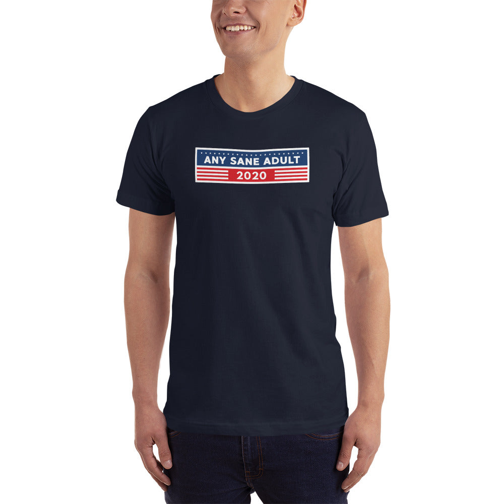 Unisex Any Sane Adult 2020 Bumper T-Shirt (Made in the USA) - Any Sane Adult 2020