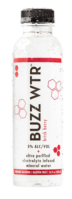 BUZZ WTR Brisk Berry 24 Pack
