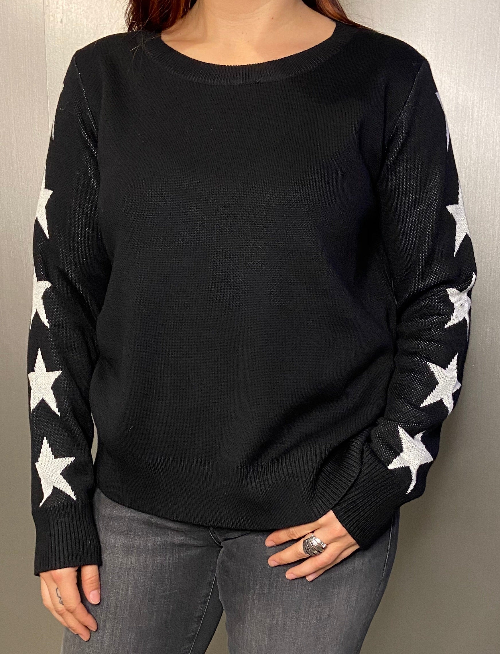Star sleeve knit
