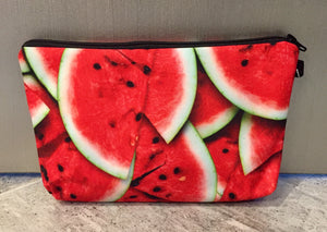 Watermelon printed cosmetic/carry all bag