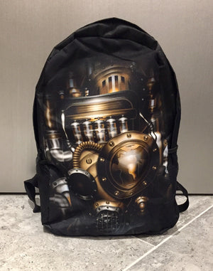 Mechanical graphic backpack