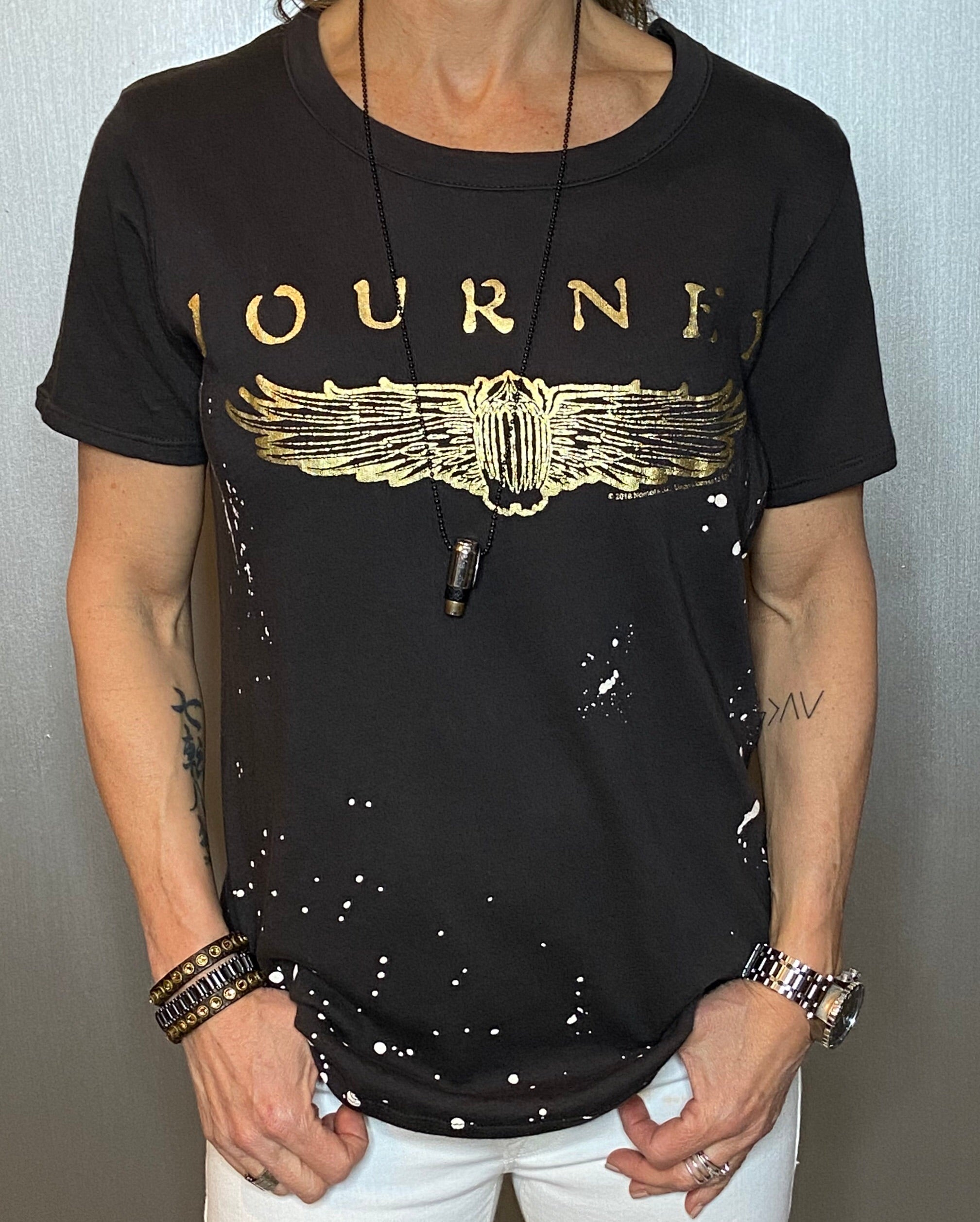 Journey foil graphic tee