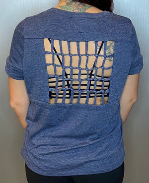 Cage back tee
