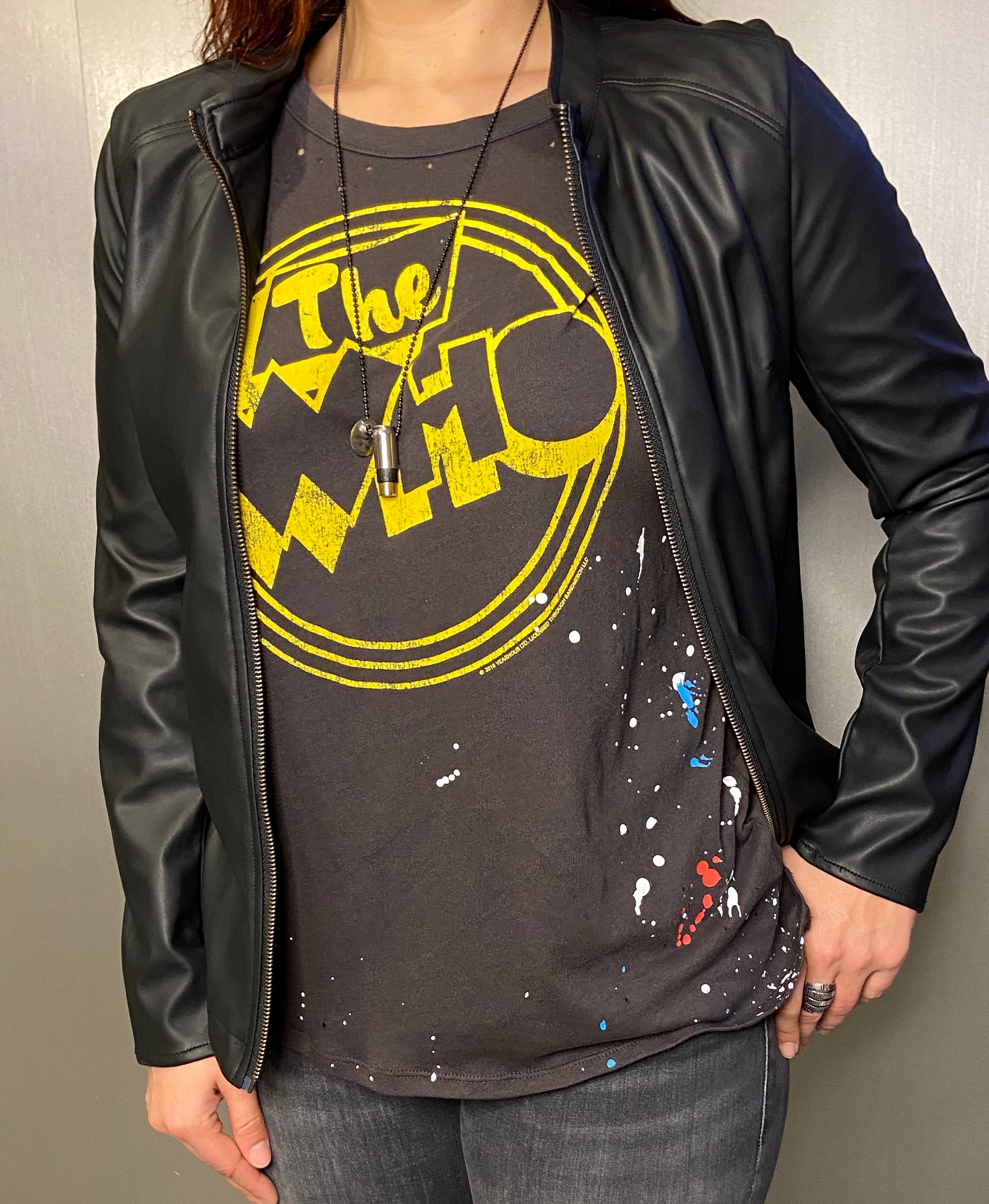 """The Who"" paint splatter tee"