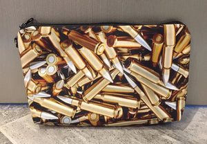 """Bullets"" printed cosmetic/carry all bag"