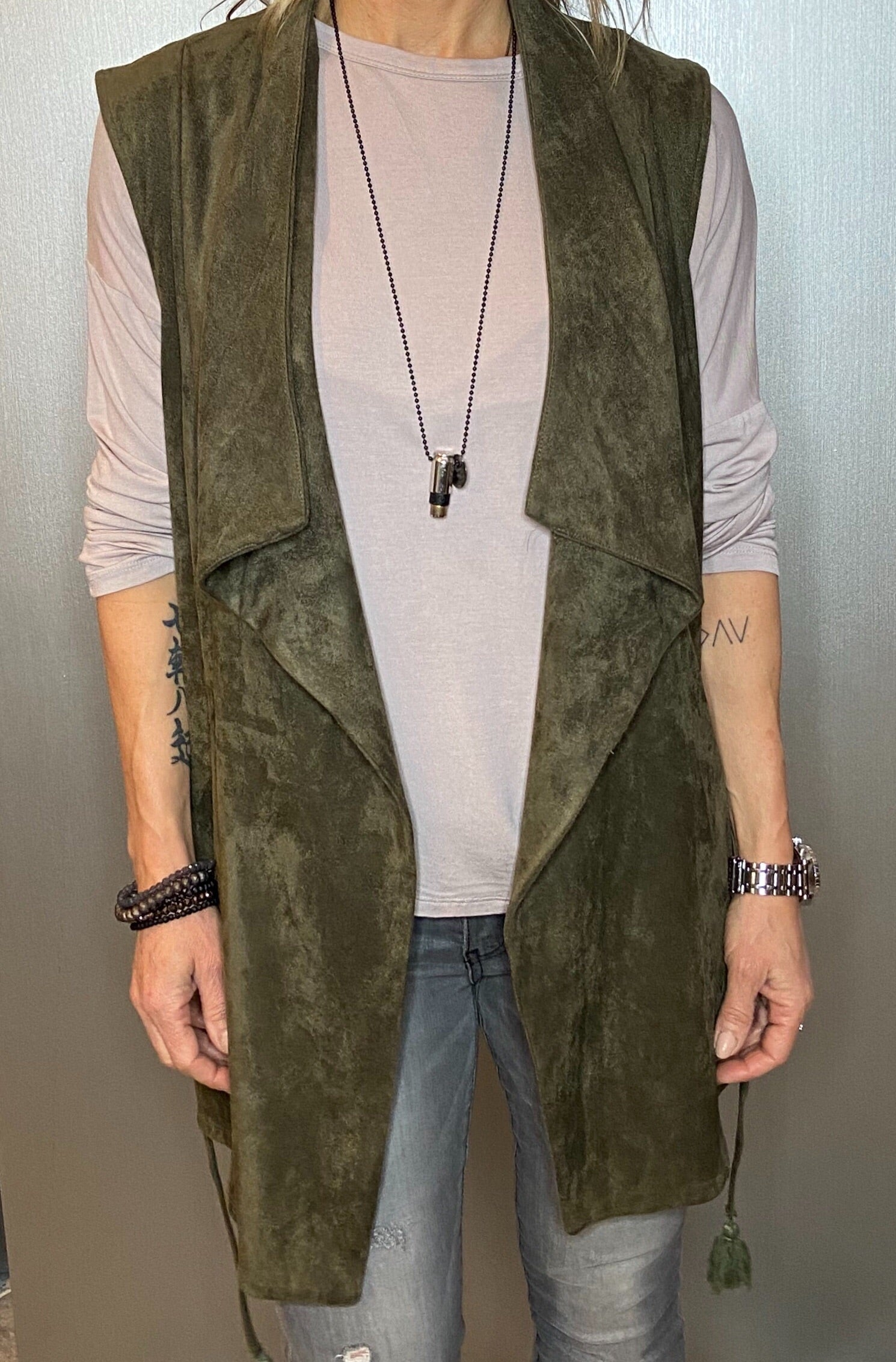 Ultra suede vest